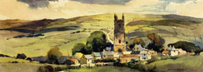 Widecombe in the Moor, Devon by Jack Merriott