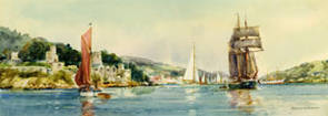 Dartmouth, Devon by Frank H Mason