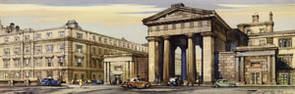 London, Euston Station by Claude Buckle