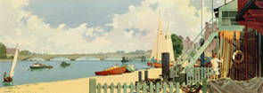 London, River Thames, Putney by A J Wilson