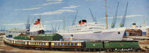 Ocean Liner Express, Southampton Docks by Richard Ward